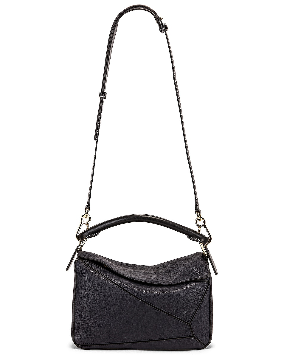Image 6 of Loewe Puzzle Small Bag in Midnight Blue & Black