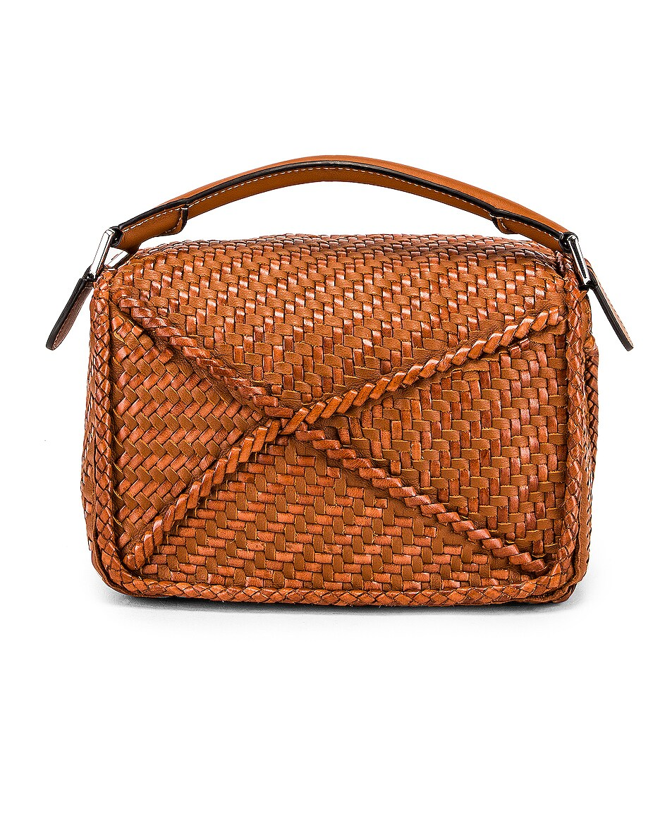Image 3 of Loewe Puzzle Woven Small Bag in Tan