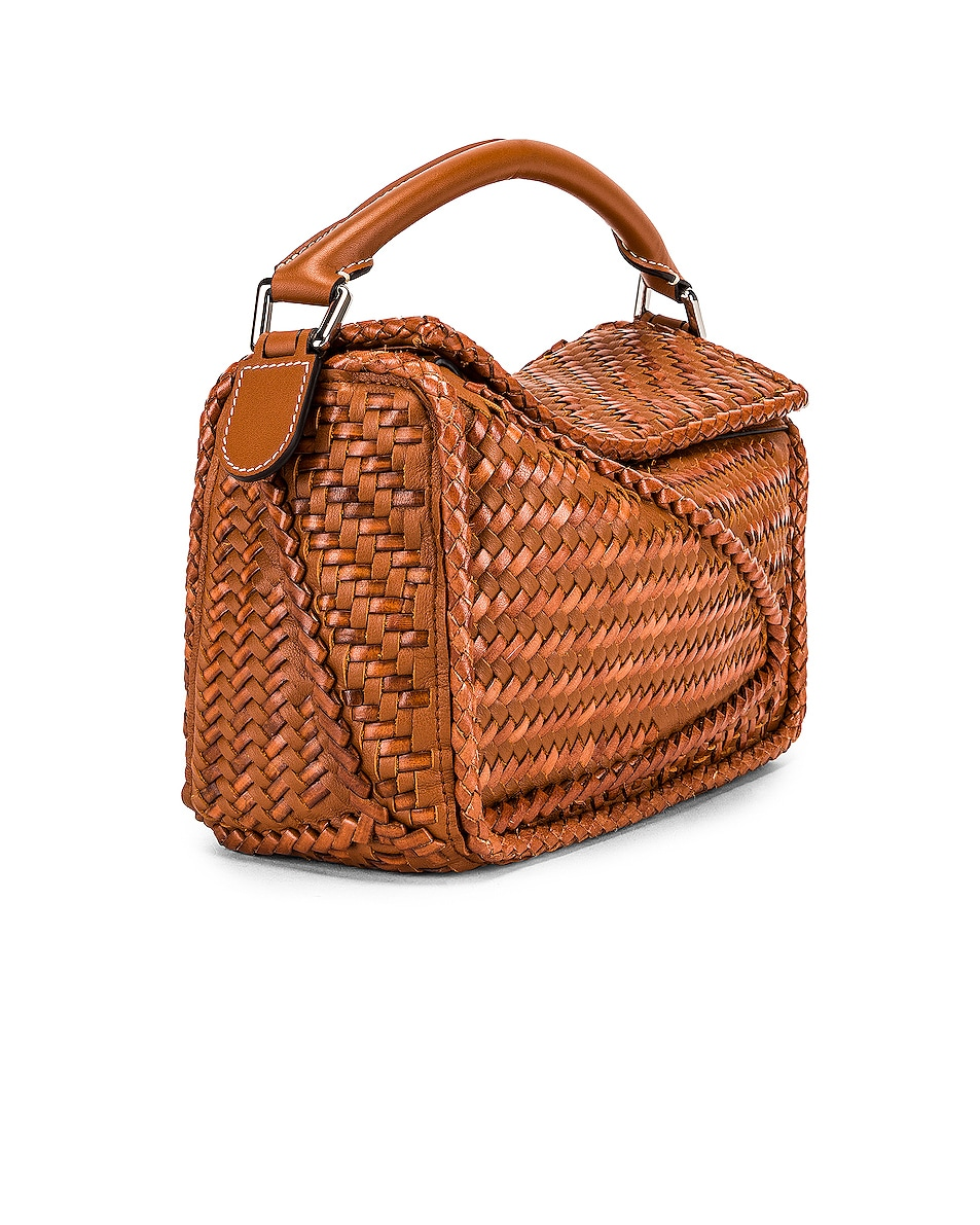 Image 4 of Loewe Puzzle Woven Small Bag in Tan