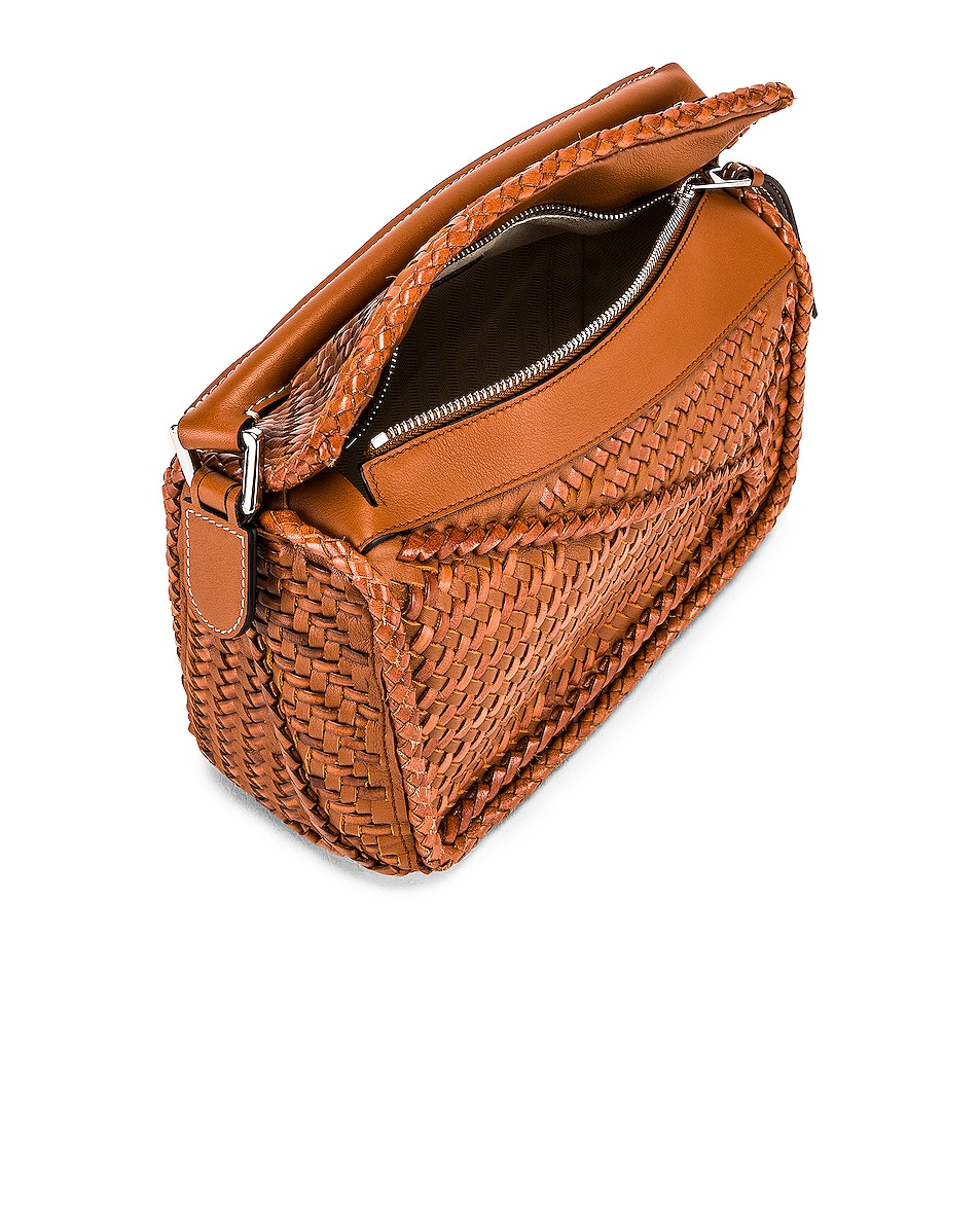 Image 5 of Loewe Puzzle Woven Small Bag in Tan