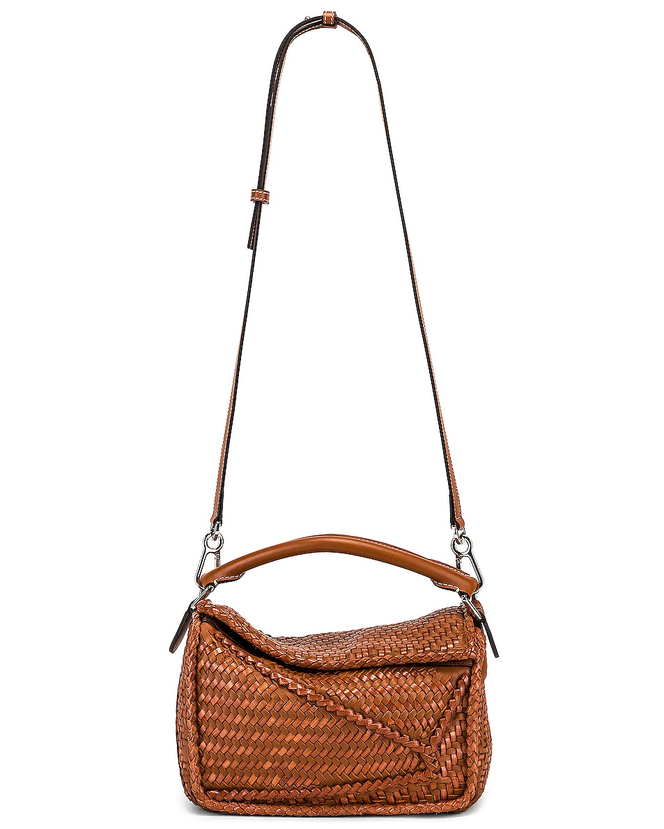 Image 6 of Loewe Puzzle Woven Small Bag in Tan