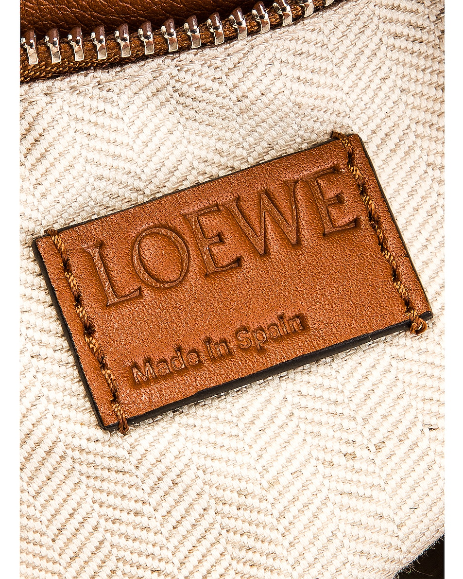 Image 7 of Loewe Puzzle Woven Small Bag in Tan