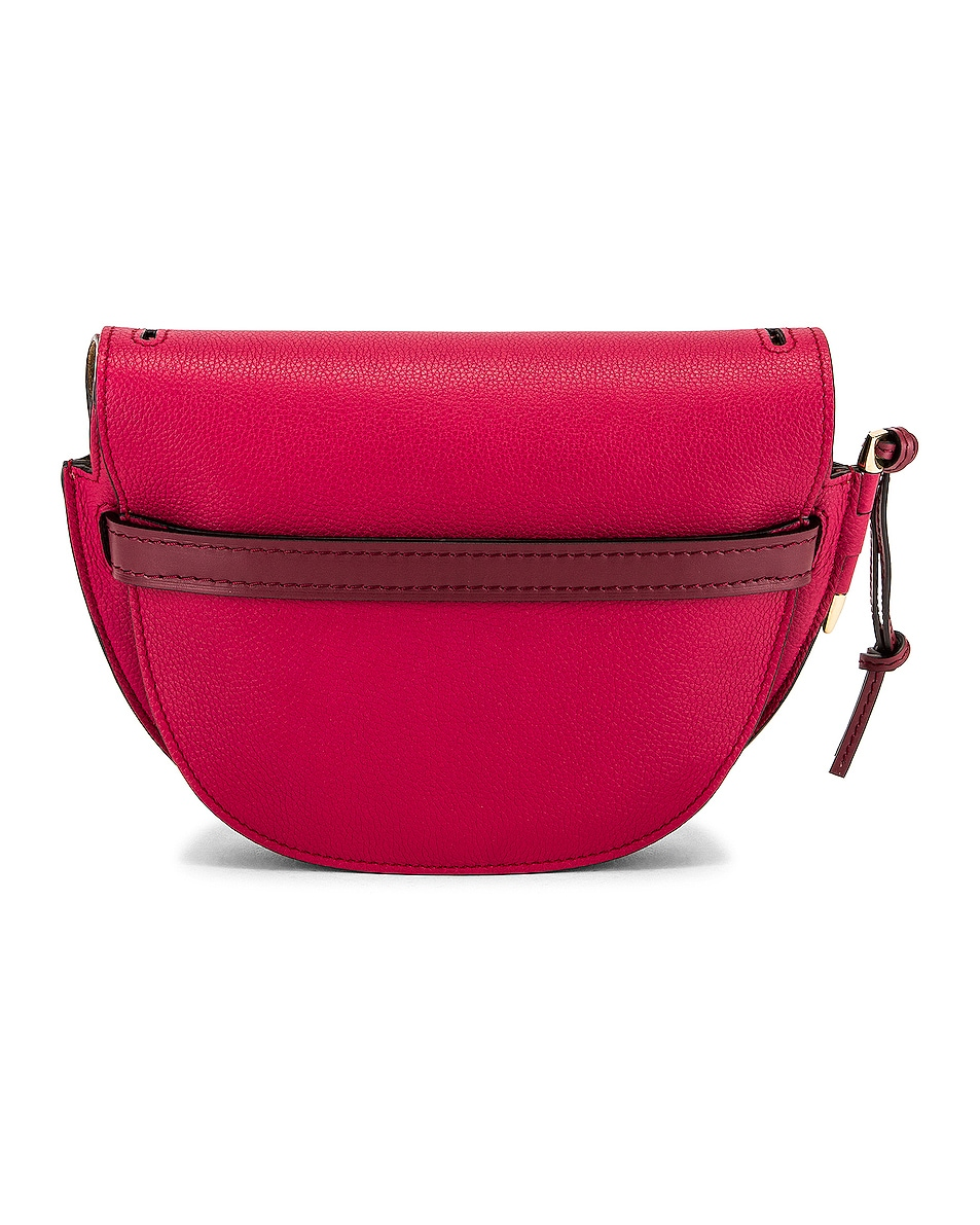 Image 3 of Loewe Gate Small Bag in Raspberry & Wine