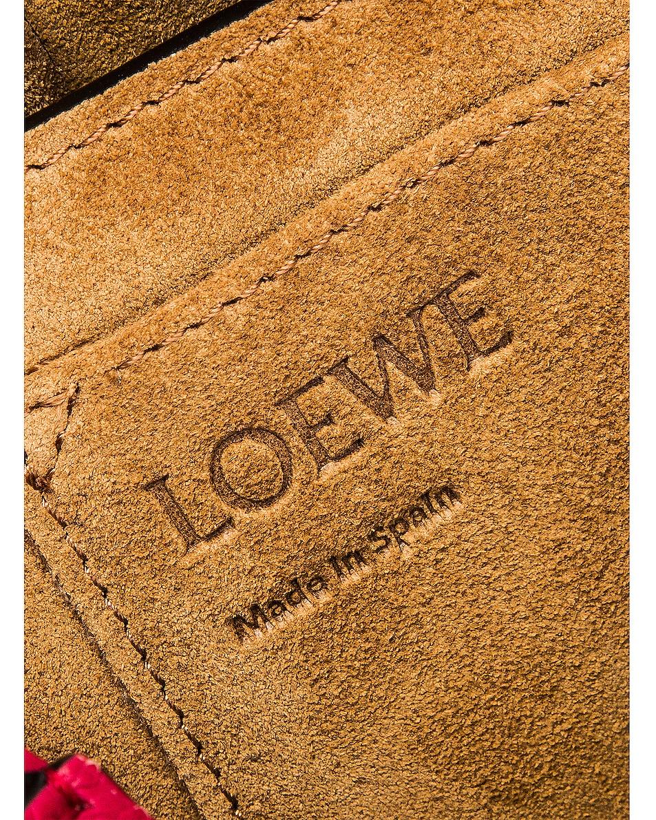 Image 7 of Loewe Gate Small Bag in Raspberry & Wine
