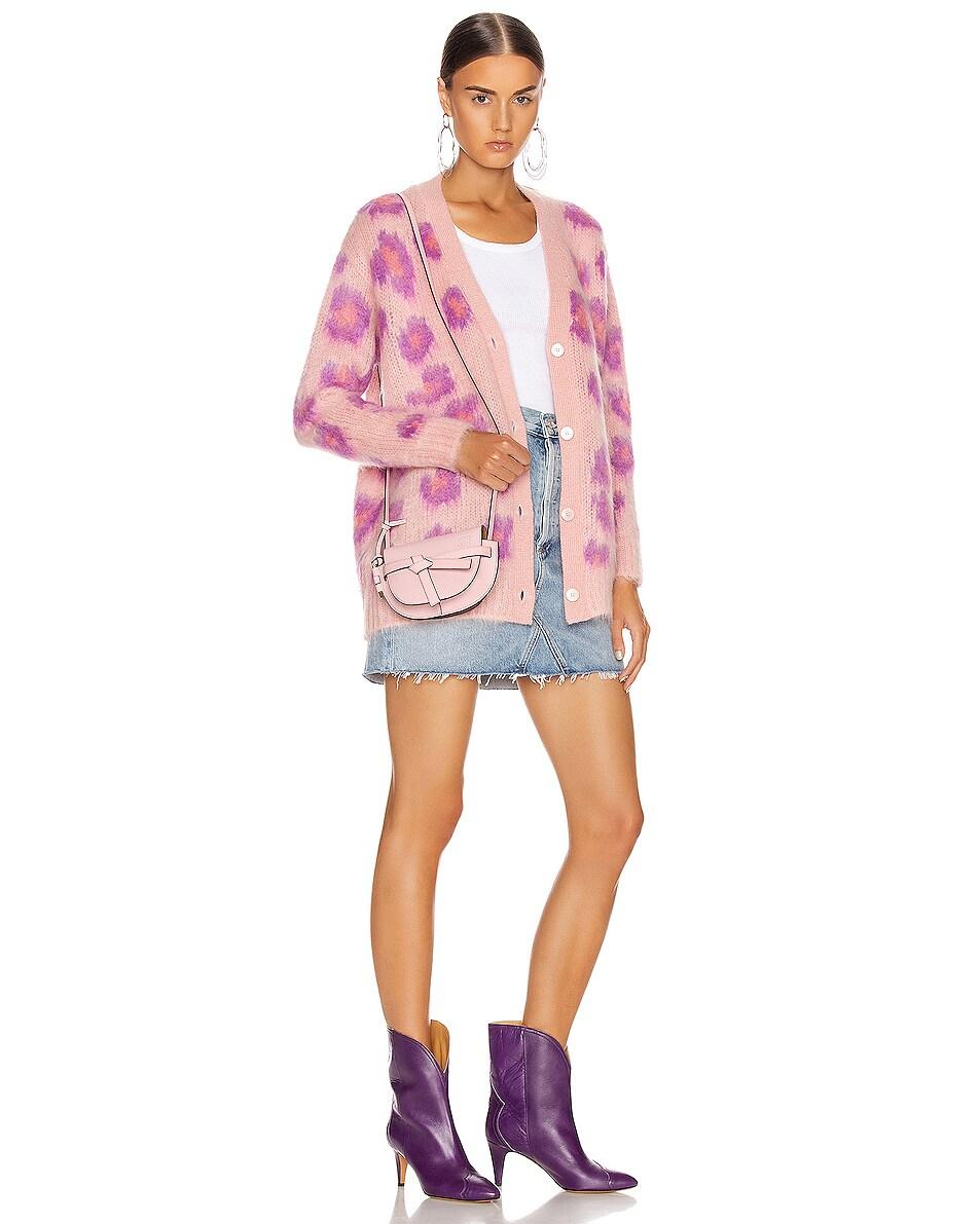 Image 2 of Loewe Mini Gate Bag in Pastel Pink