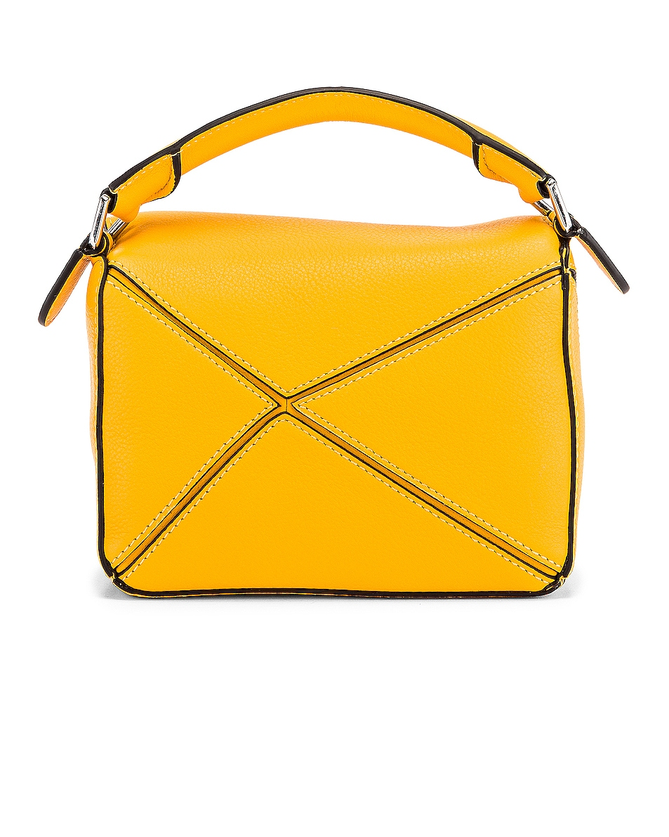 Image 3 of Loewe Puzzle Mini Bag in Yellow Mango