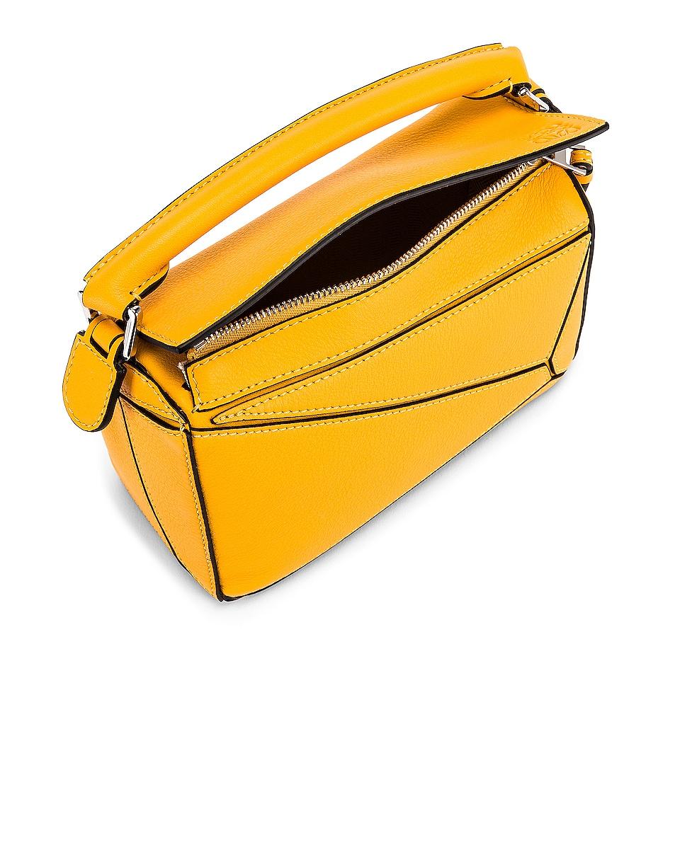 Image 5 of Loewe Puzzle Mini Bag in Yellow Mango