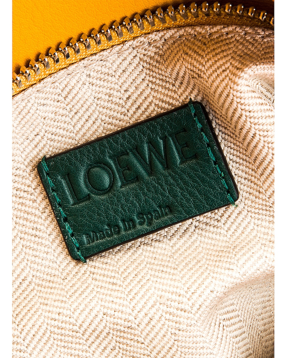 Image 7 of Loewe Puzzle Small Bag in Green & Pastel Pink