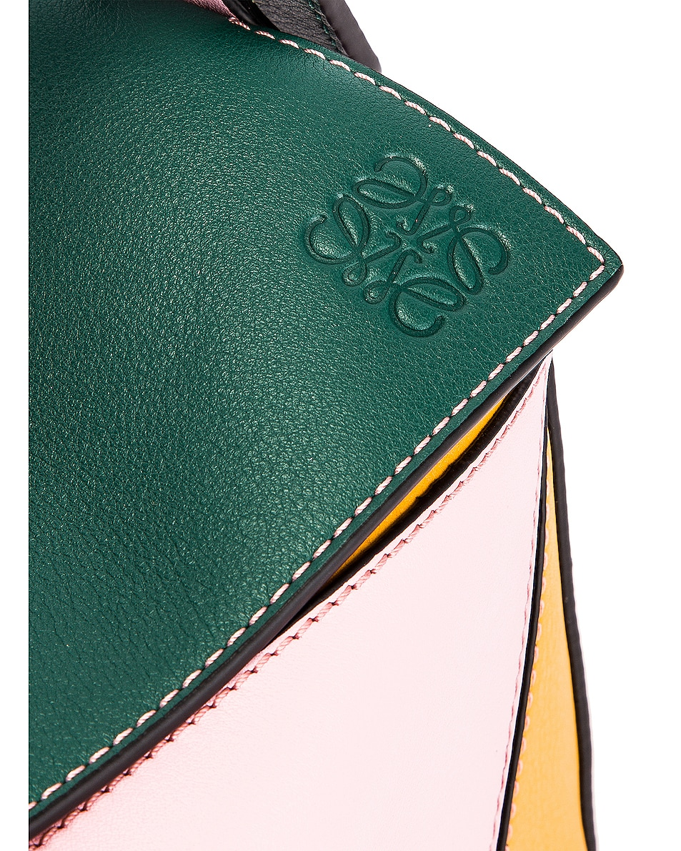 Image 8 of Loewe Puzzle Small Bag in Green & Pastel Pink