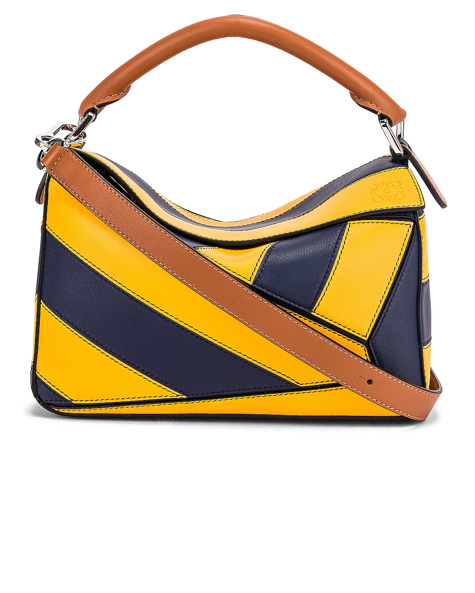 Image 1 of Loewe Puzzle Rugby Small Bag in Yellow Mango & Marine