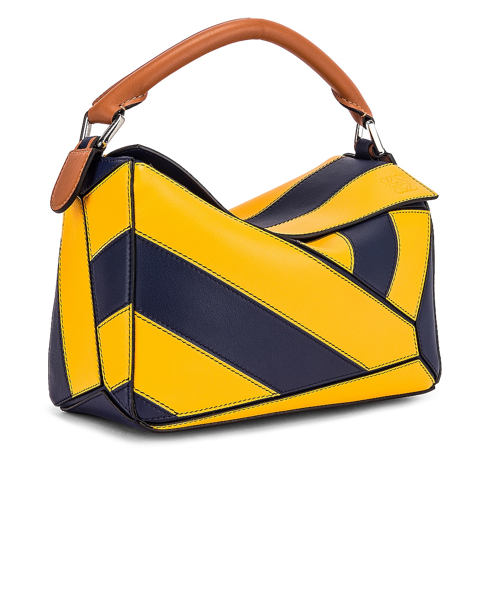 Image 4 of Loewe Puzzle Rugby Small Bag in Yellow Mango & Marine