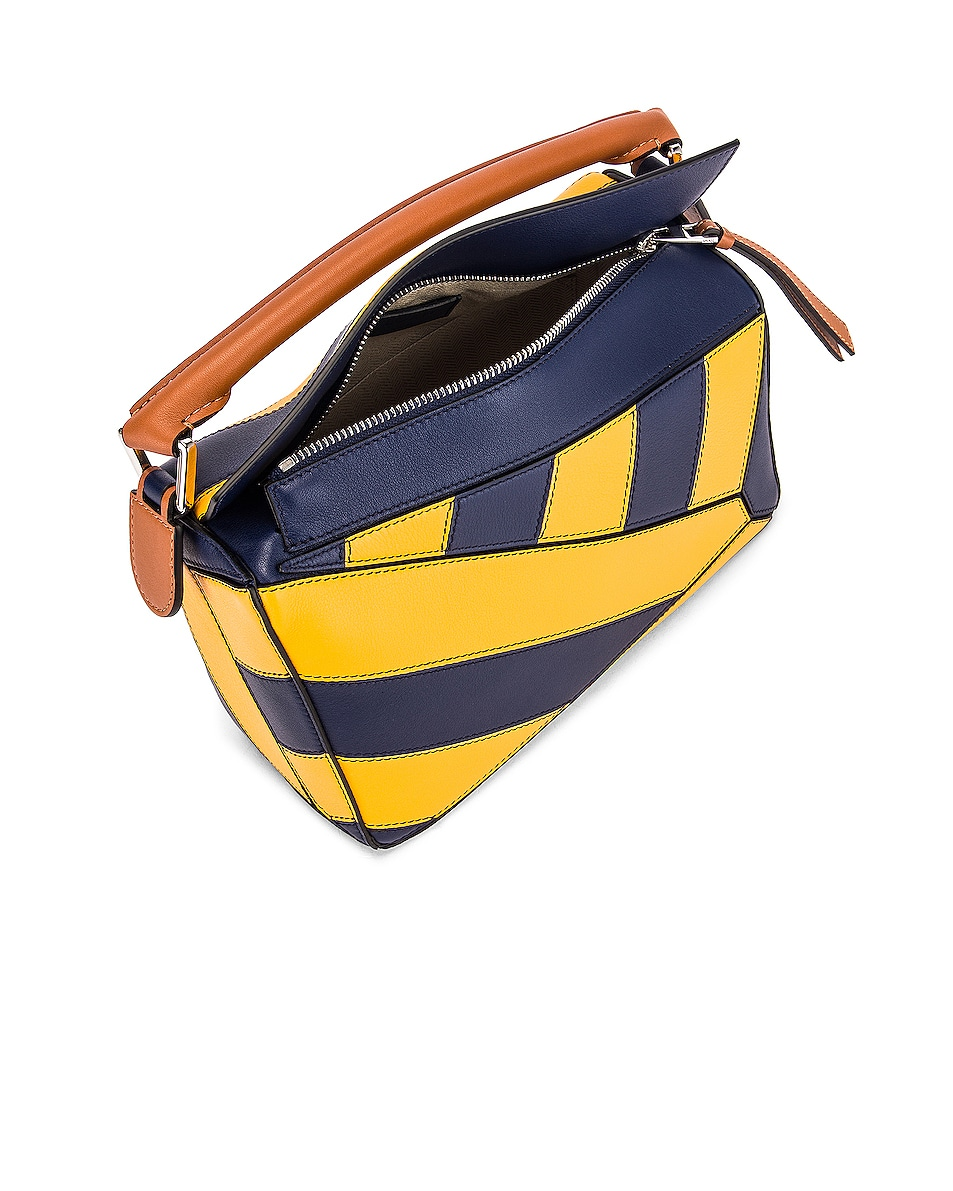 Image 5 of Loewe Puzzle Rugby Small Bag in Yellow Mango & Marine