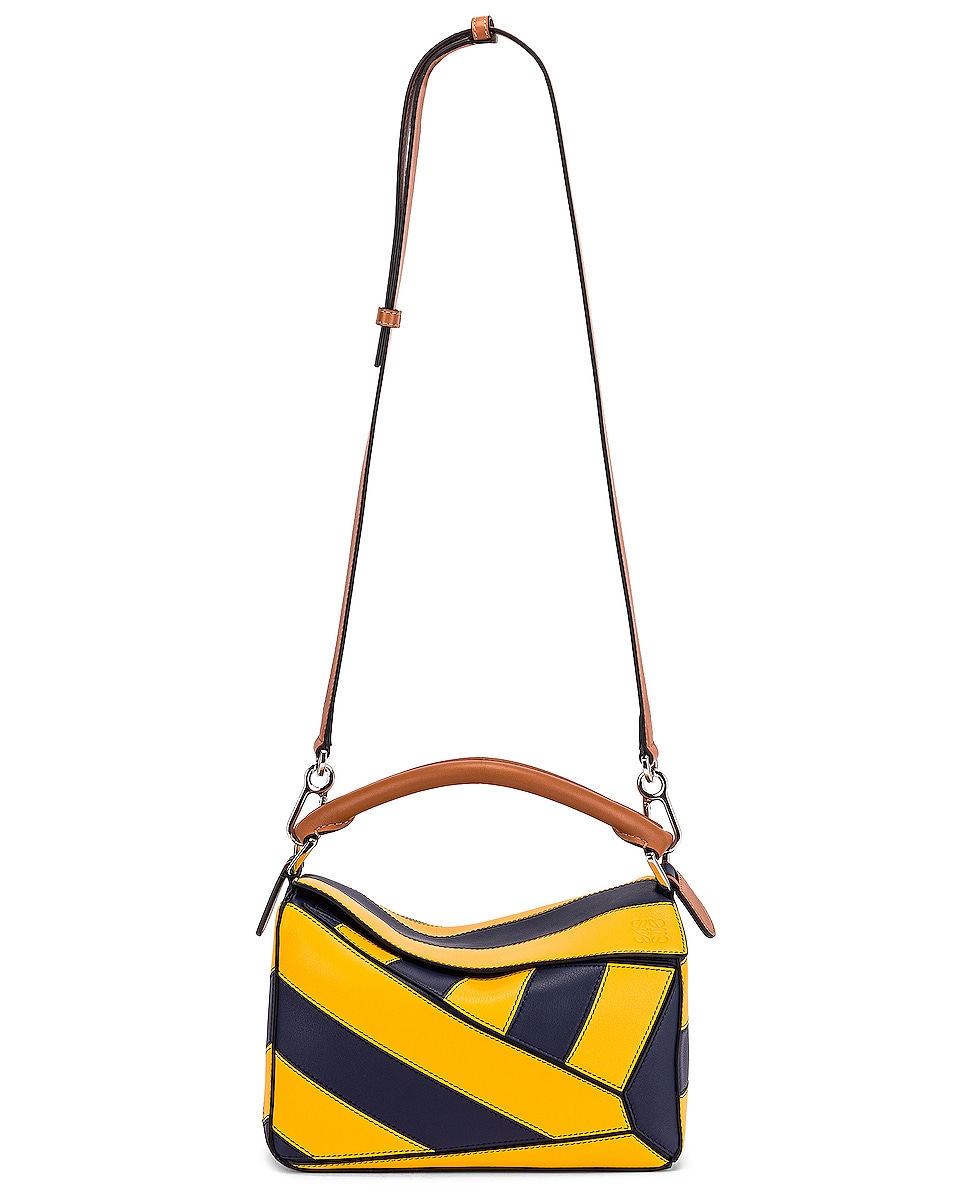 Image 6 of Loewe Puzzle Rugby Small Bag in Yellow Mango & Marine