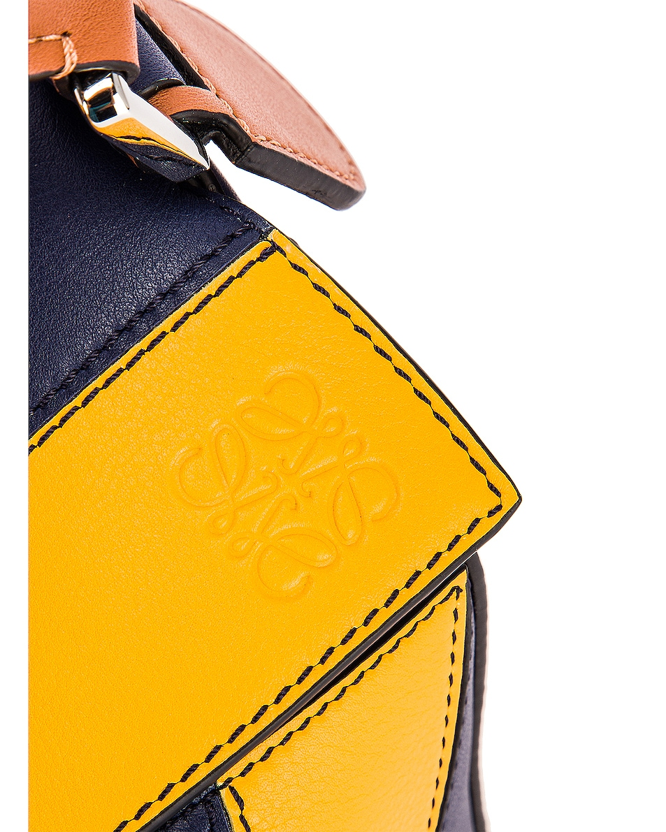 Image 8 of Loewe Puzzle Rugby Small Bag in Yellow Mango & Marine