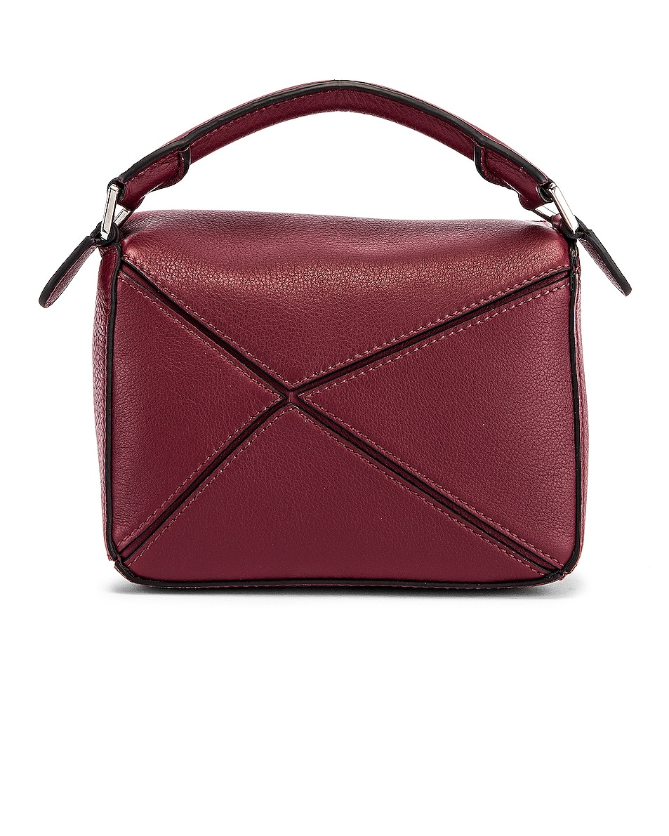 Image 3 of Loewe Puzzle Mini Bag in Wine