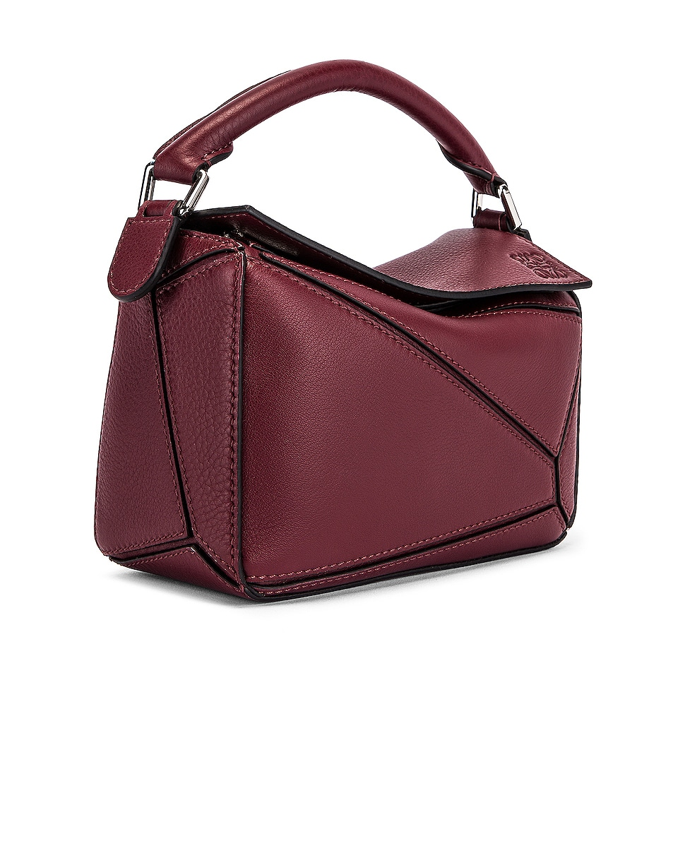 Image 4 of Loewe Puzzle Mini Bag in Wine