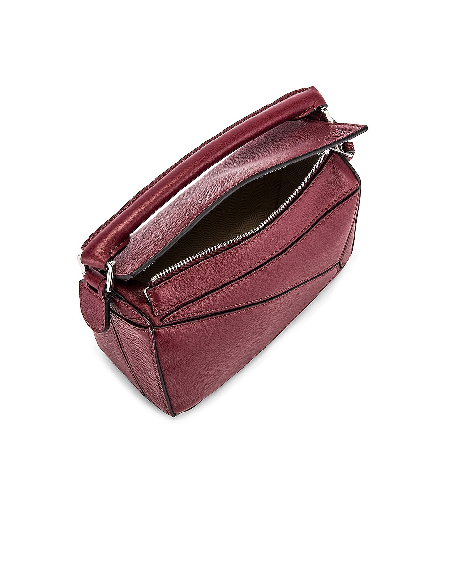 Image 5 of Loewe Puzzle Mini Bag in Wine