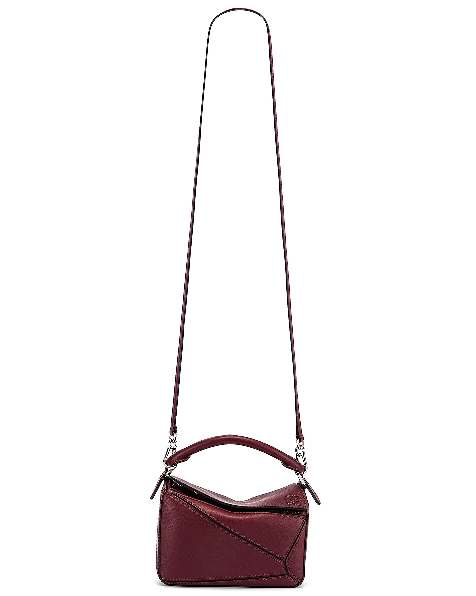 Image 6 of Loewe Puzzle Mini Bag in Wine