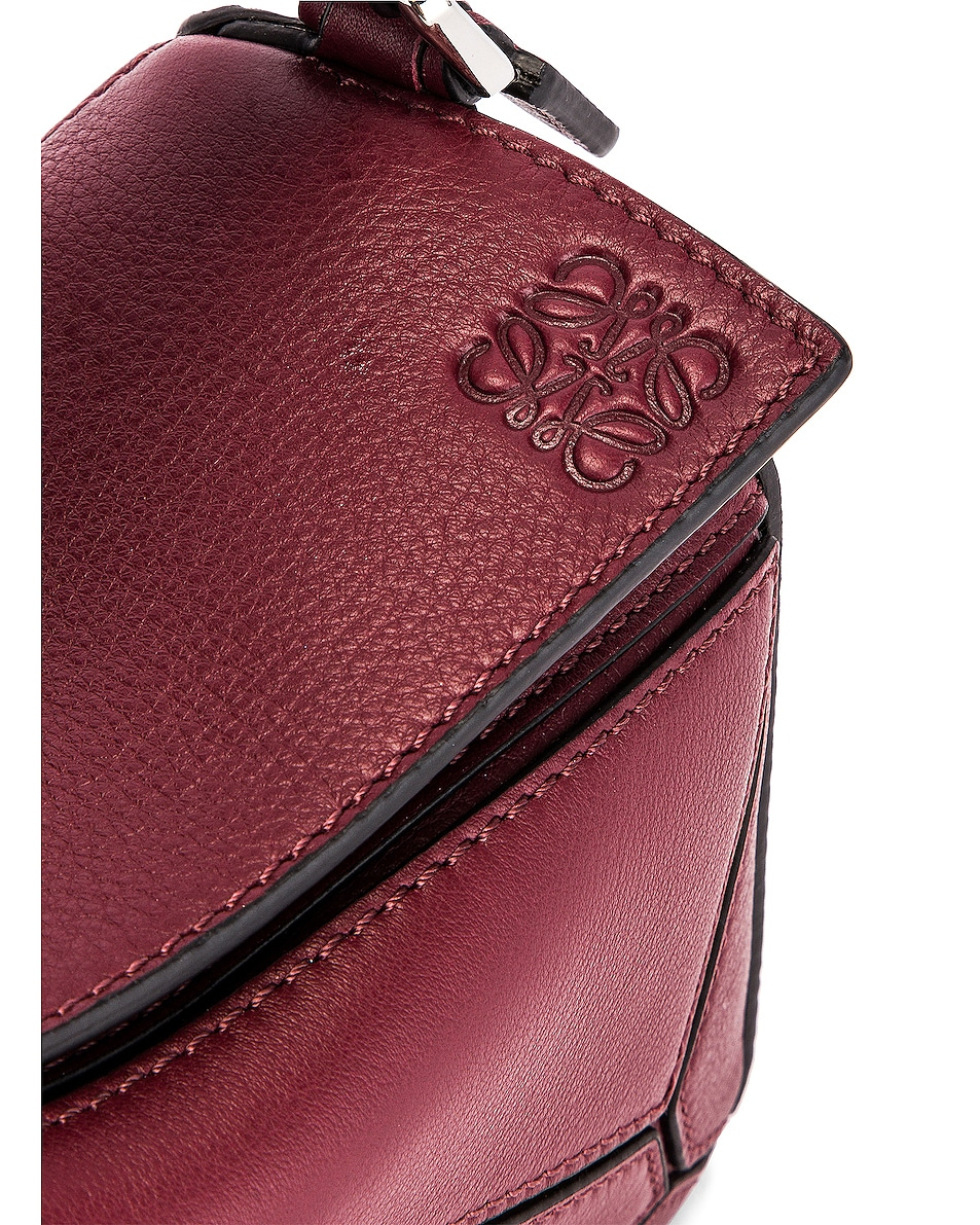 Image 8 of Loewe Puzzle Mini Bag in Wine