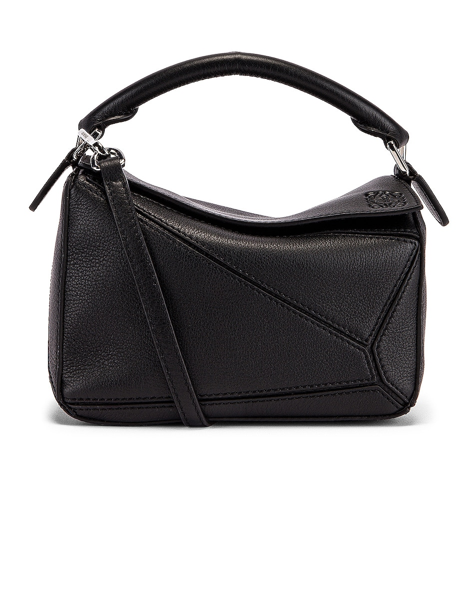 Image 1 of Loewe Puzzle Mini Bag in Black