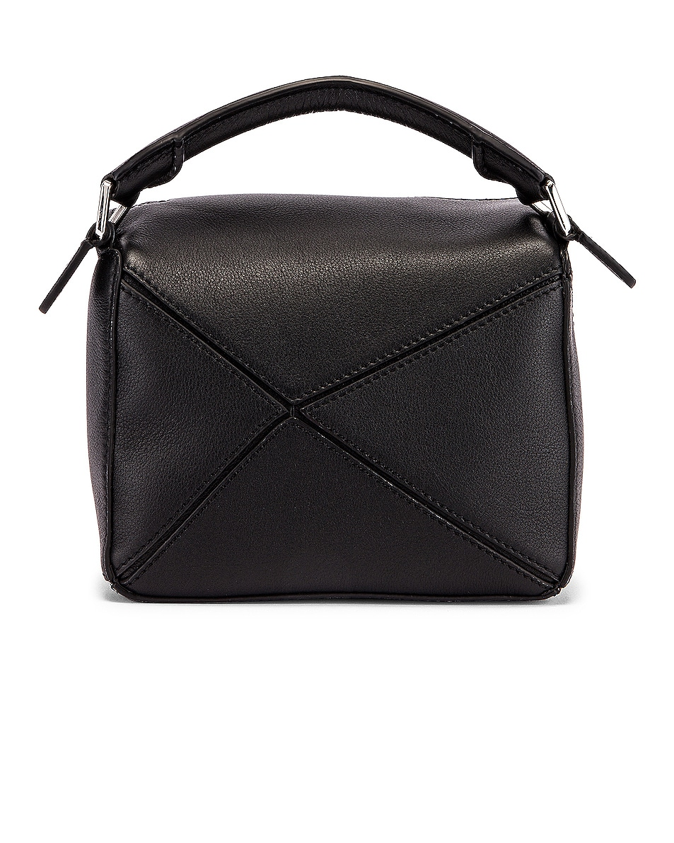 Image 3 of Loewe Puzzle Mini Bag in Black