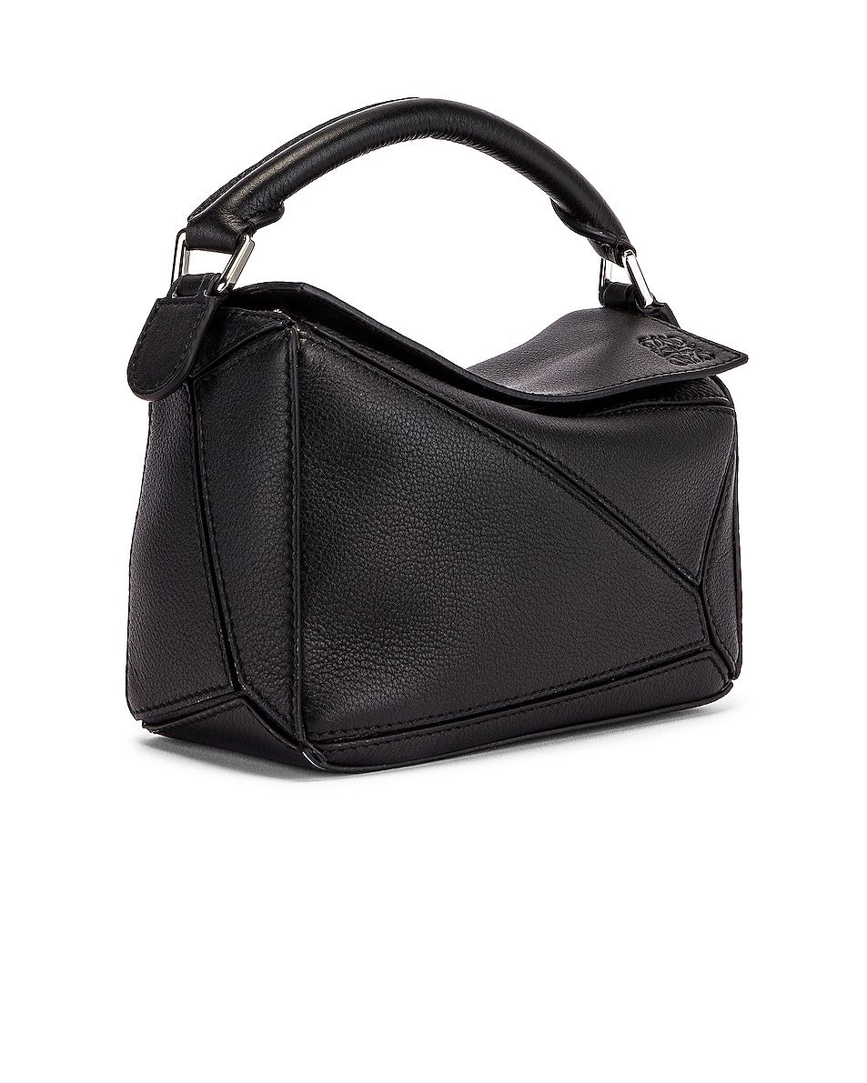 Image 4 of Loewe Puzzle Mini Bag in Black