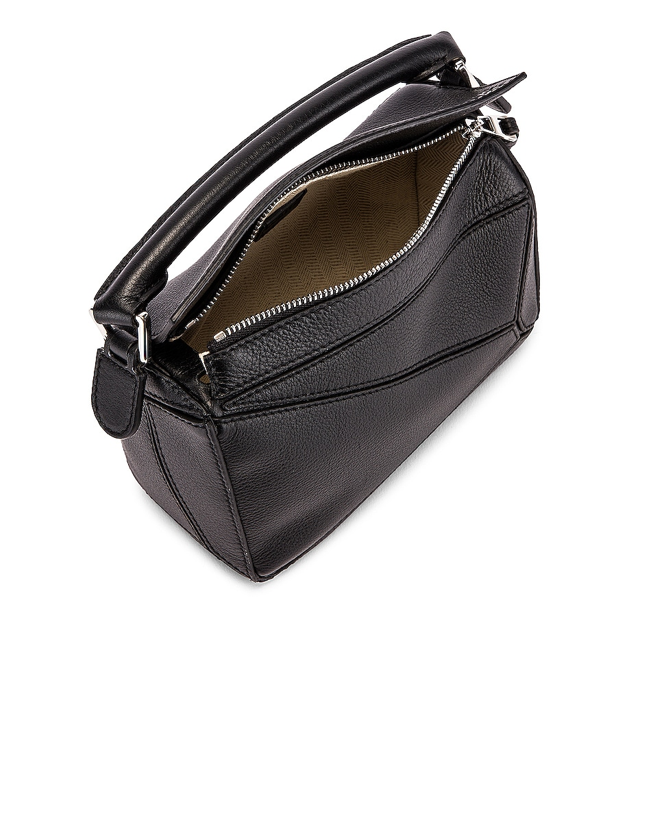 Image 5 of Loewe Puzzle Mini Bag in Black