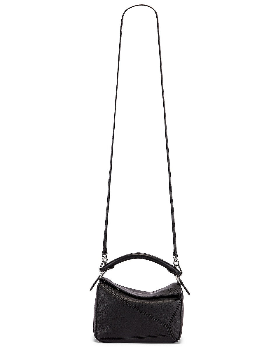 Image 6 of Loewe Puzzle Mini Bag in Black