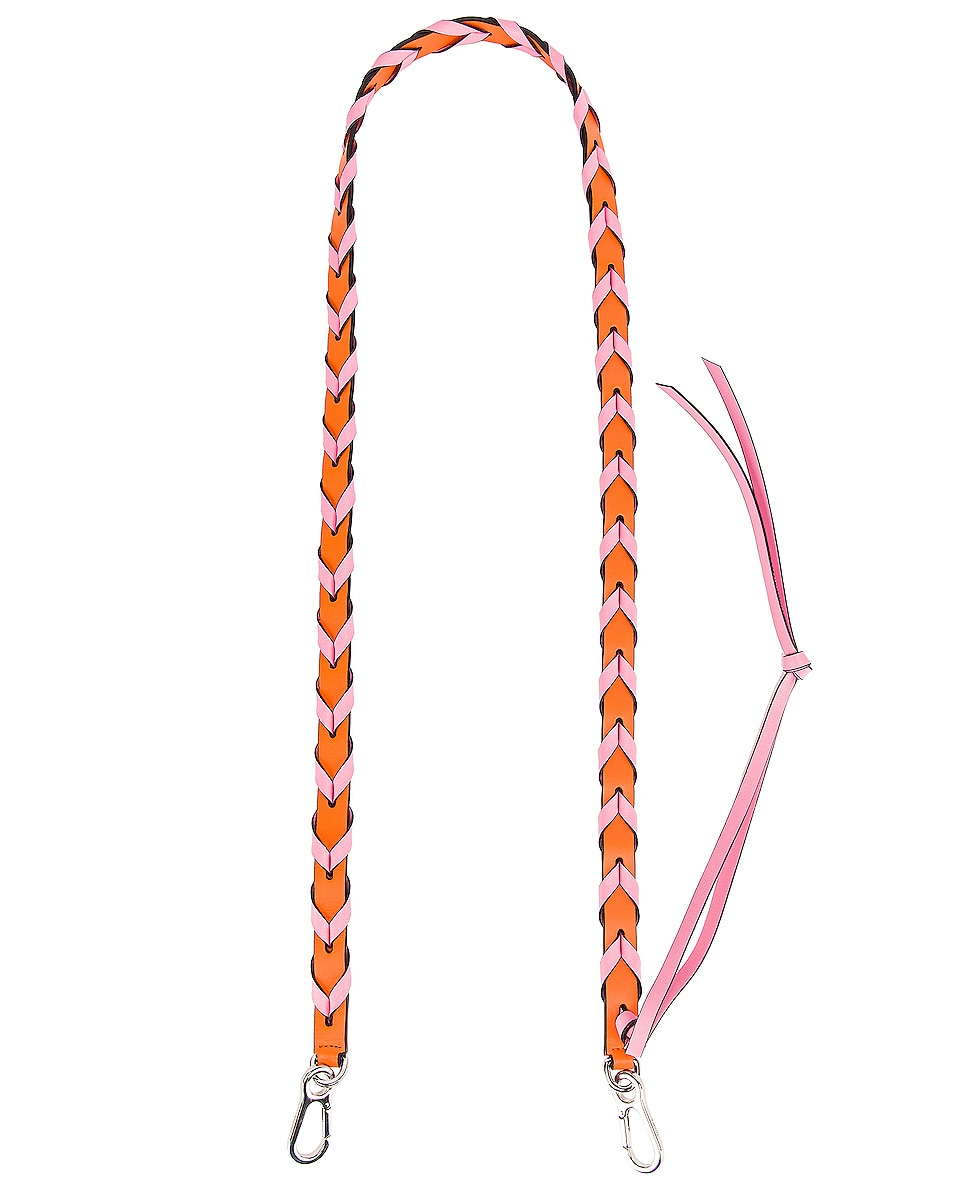 Image 1 of Loewe Braided Thin Strap in Orange & Candy