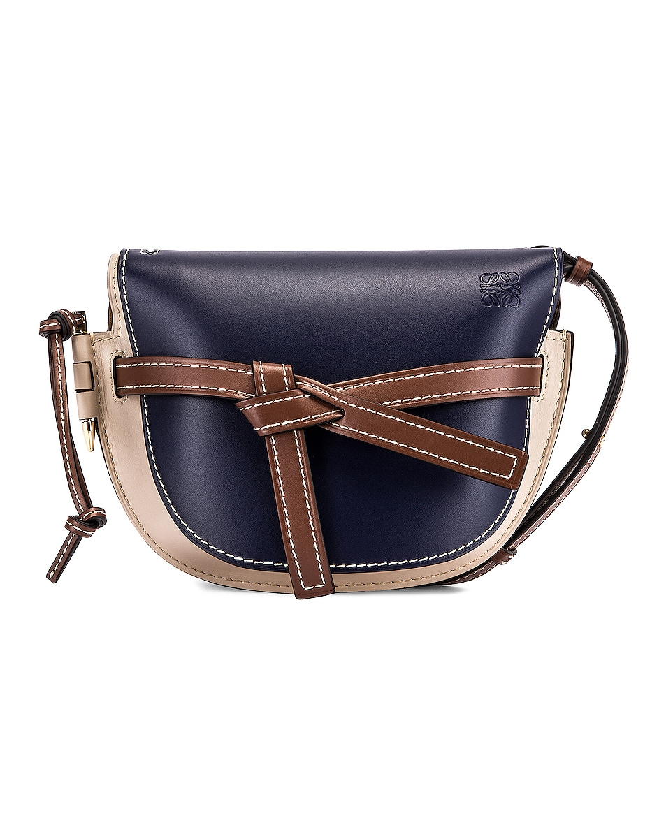 Image 1 of Loewe Gate Small Bag in Marine & Light Oat