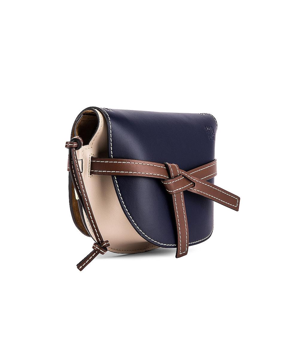 Image 4 of Loewe Gate Small Bag in Marine & Light Oat