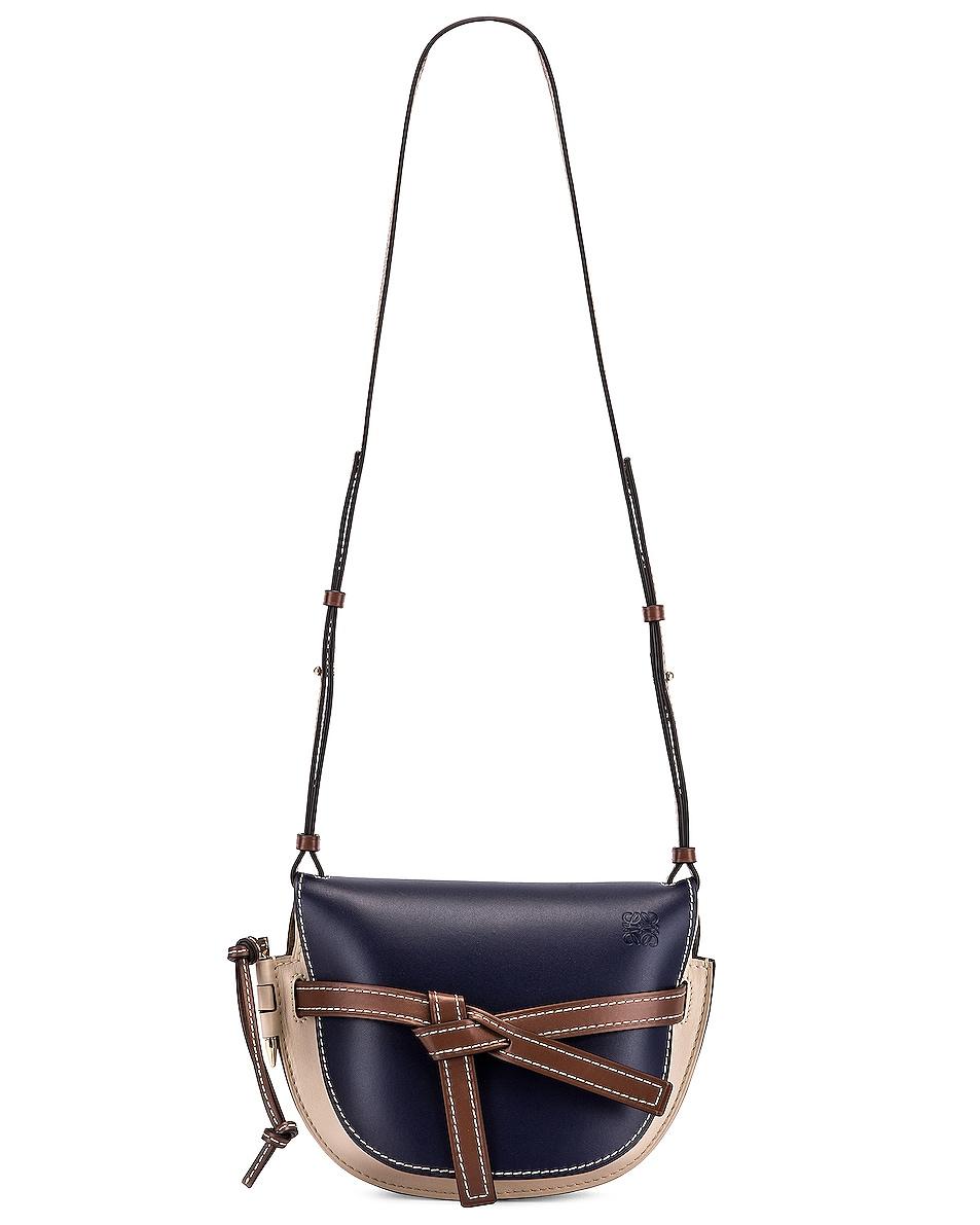 Image 6 of Loewe Gate Small Bag in Marine & Light Oat