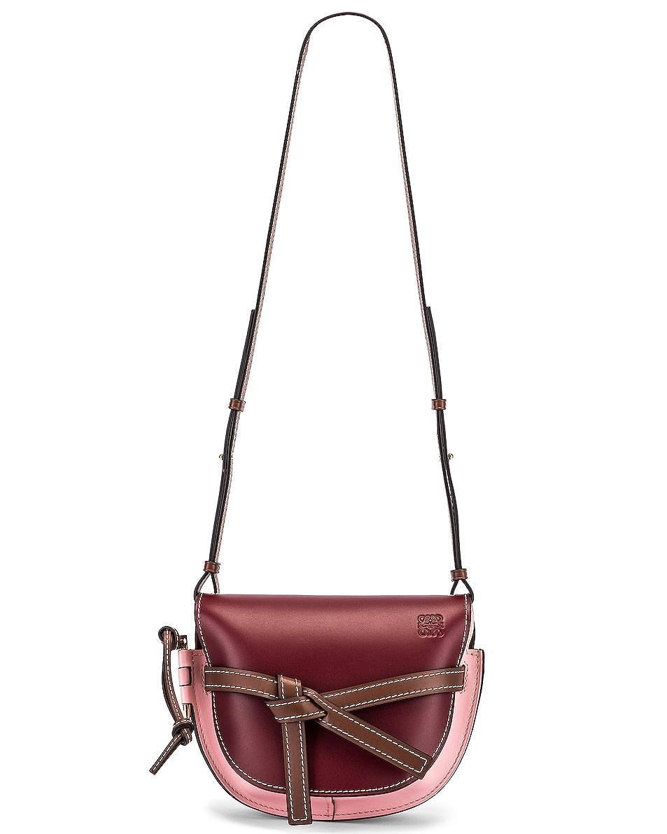 Image 6 of Loewe Gate Small Bag in Wine & Pastel Pink