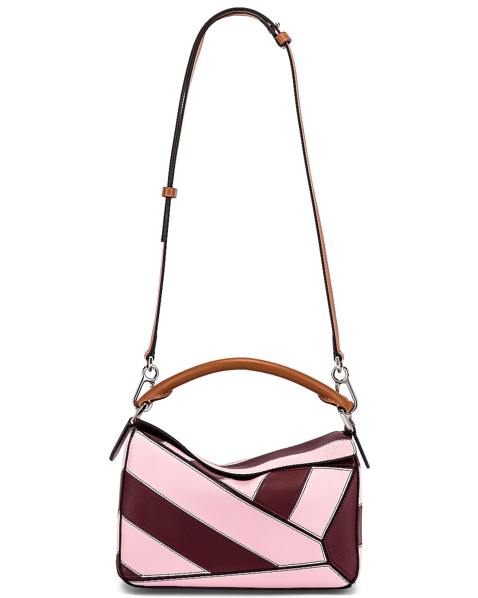 Image 6 of Loewe Puzzle Rugby Small Bag in Wine & Pastel Pink