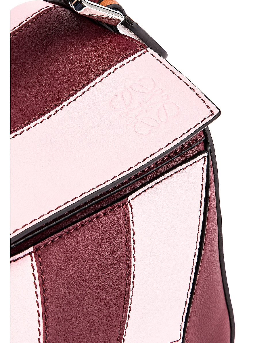 Image 8 of Loewe Puzzle Rugby Small Bag in Wine & Pastel Pink
