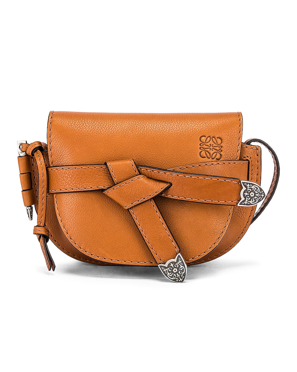 Image 1 of Loewe Mini Gate Western Bag in Walnut