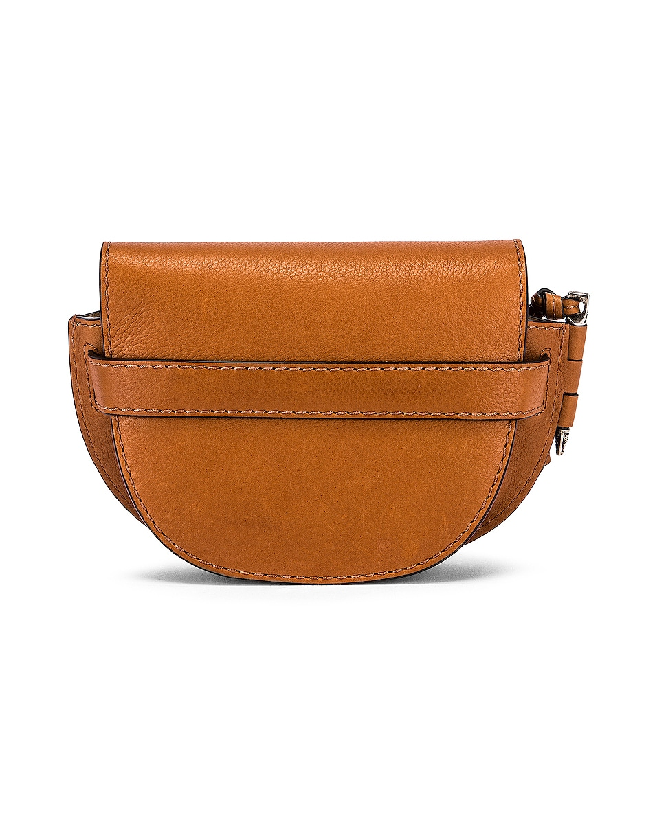 Image 3 of Loewe Mini Gate Western Bag in Walnut