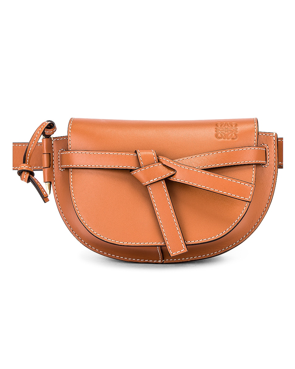 Image 1 of Loewe Mini Gate Bum Bag in Tan