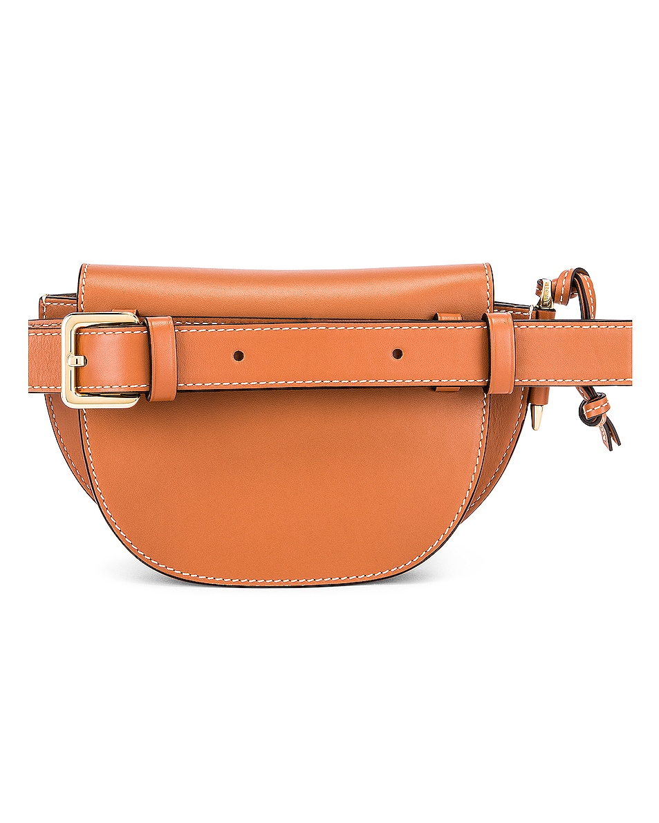 Image 3 of Loewe Mini Gate Bum Bag in Tan
