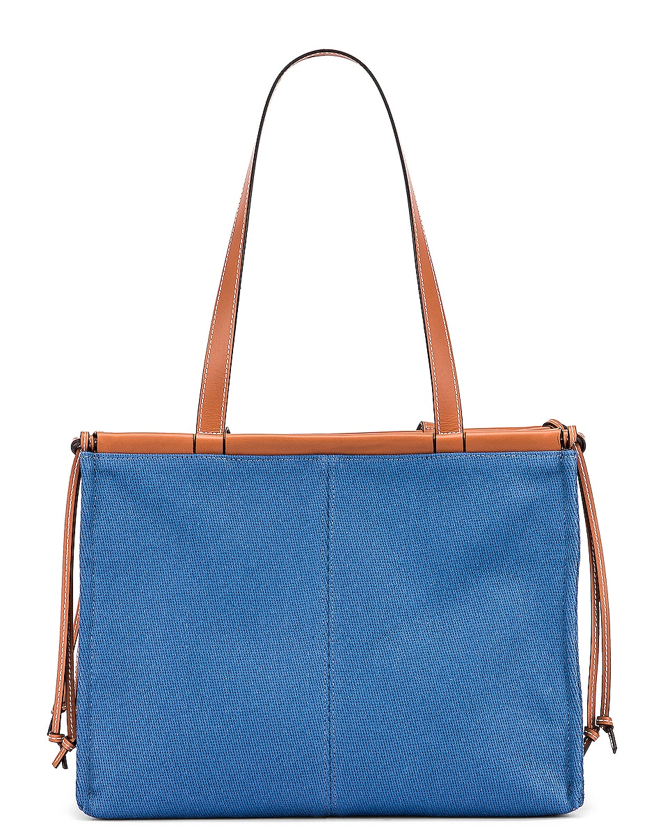 Image 3 of Loewe Cushion Tote Bag in Steel Blue
