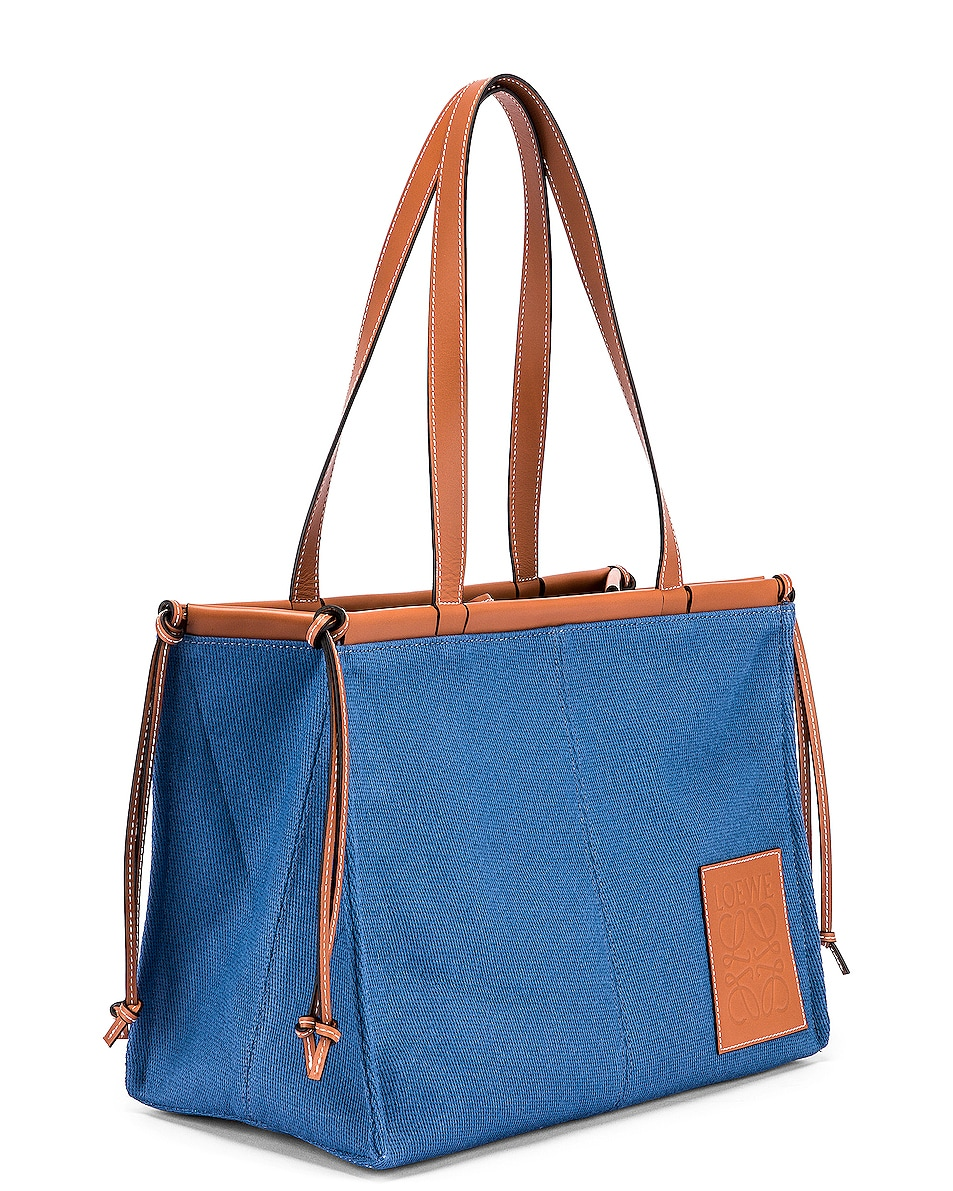 Image 4 of Loewe Cushion Tote Bag in Steel Blue