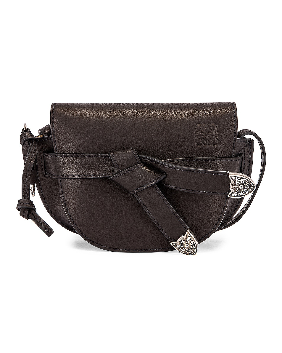 Image 1 of Loewe Mini Gate Western Bag in Black
