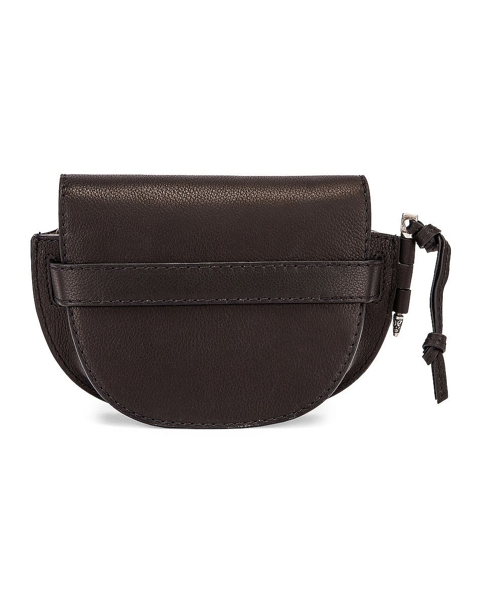 Image 3 of Loewe Mini Gate Western Bag in Black