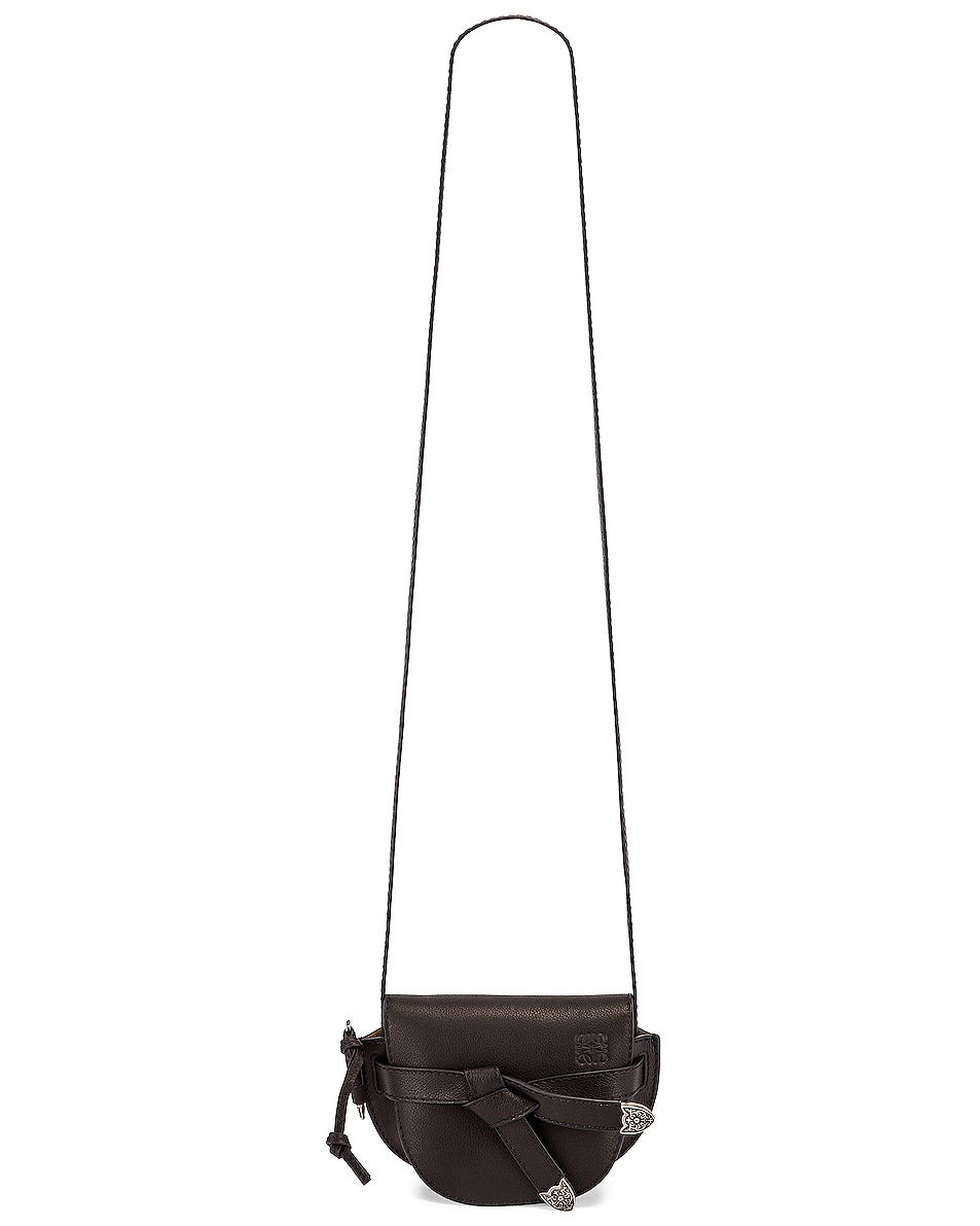 Image 6 of Loewe Mini Gate Western Bag in Black