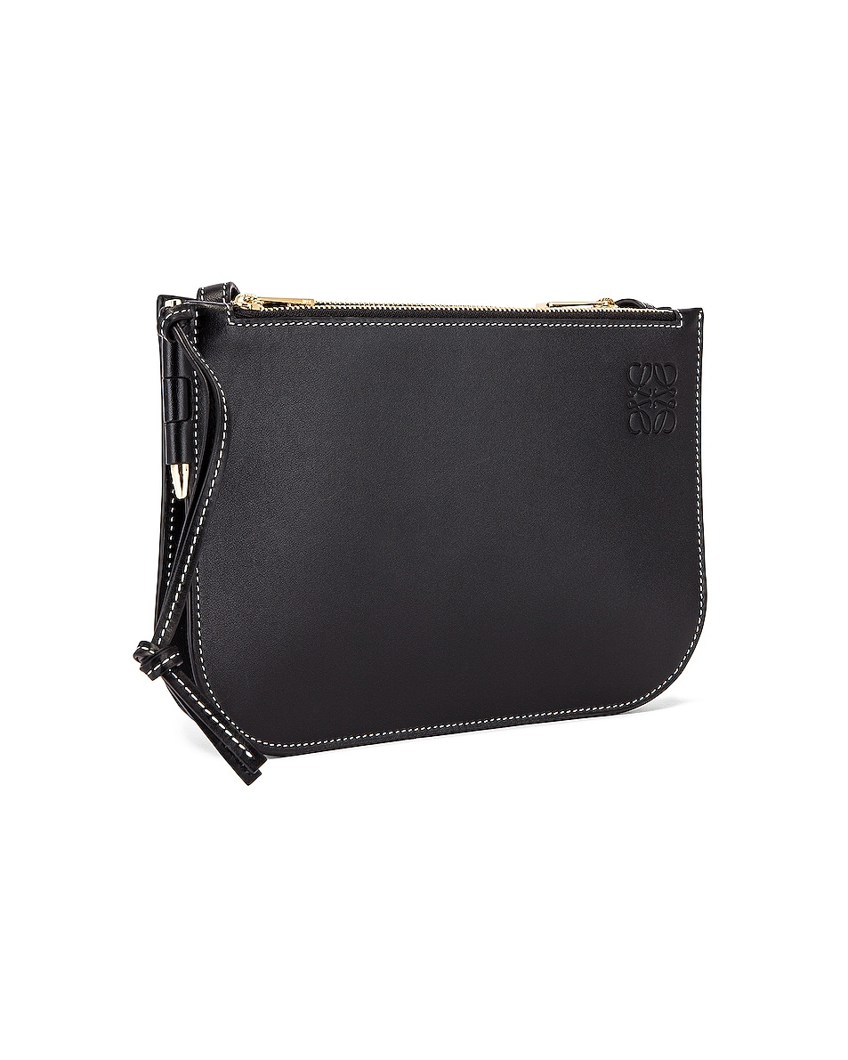 Image 4 of Loewe Double Zip Gate Pouch in Black