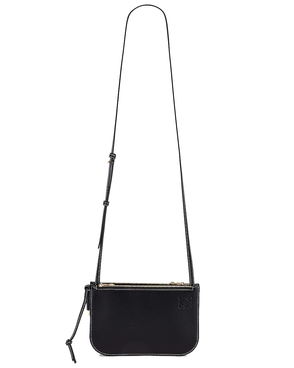 Image 6 of Loewe Double Zip Gate Pouch in Black