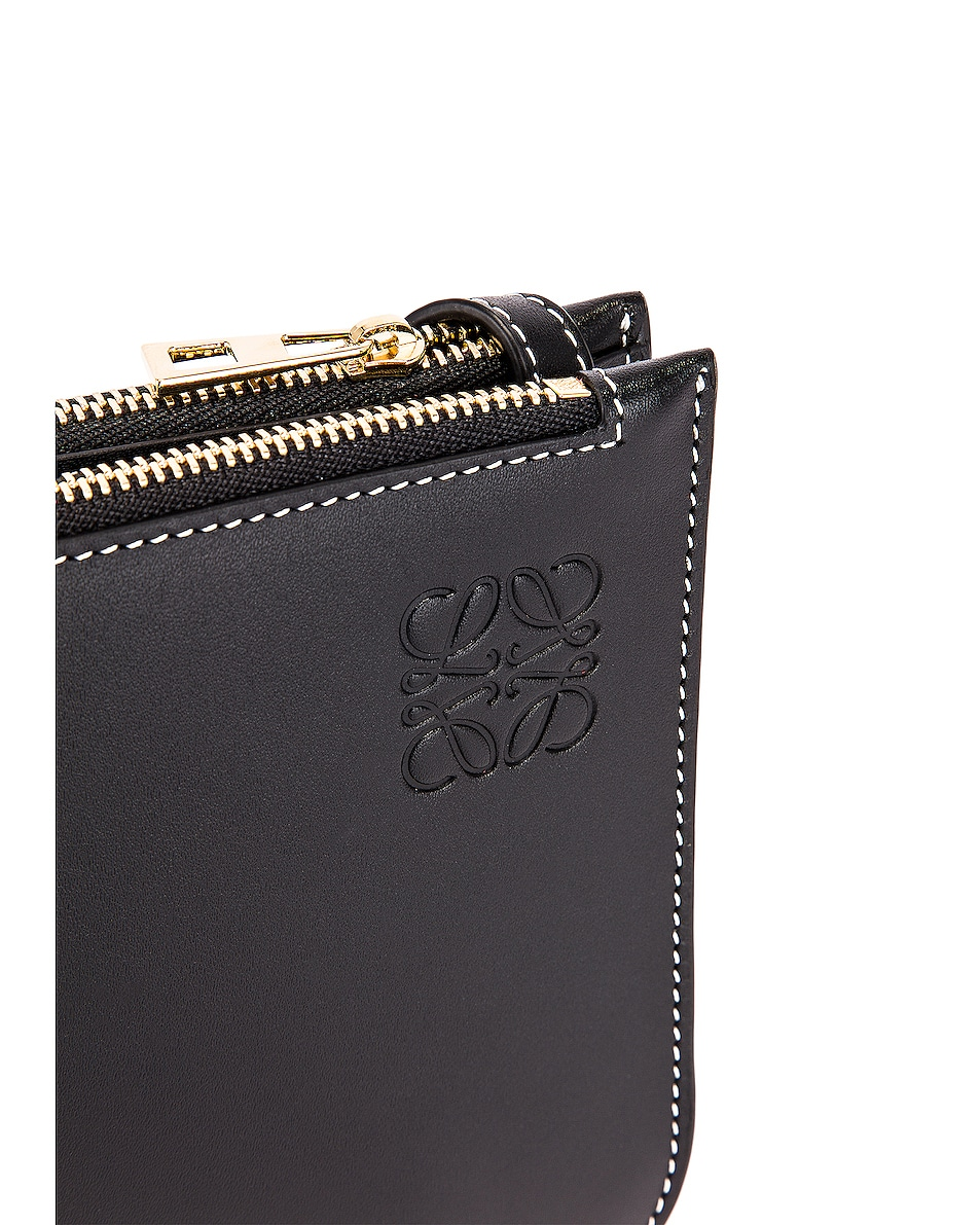 Image 8 of Loewe Double Zip Gate Pouch in Black
