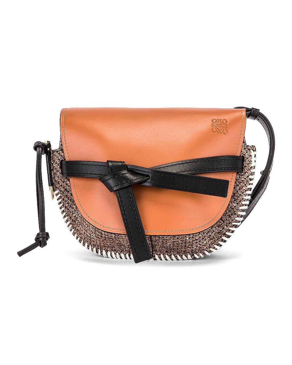 Image 1 of Loewe Gate Tweed Small Bag in Tan