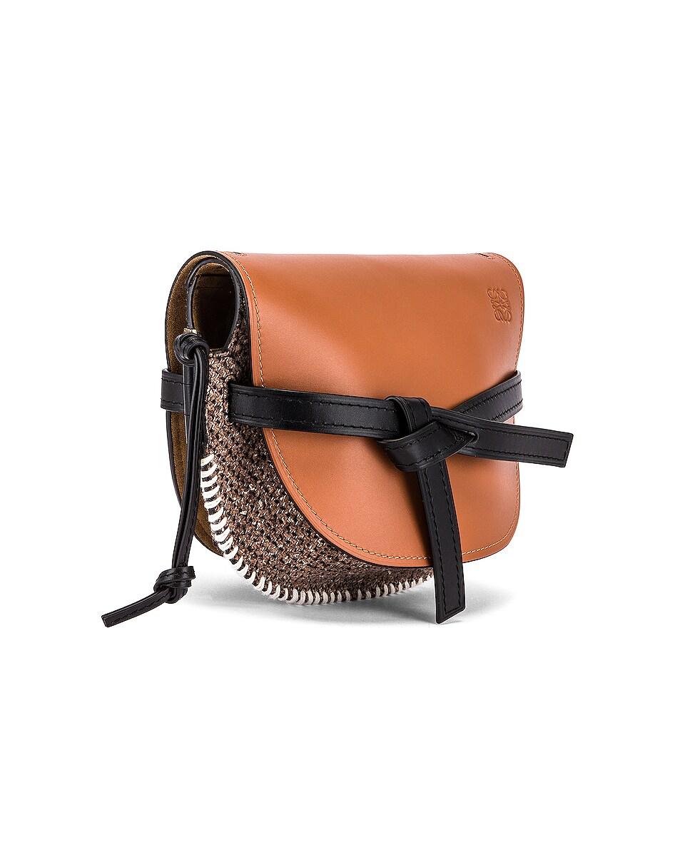 Image 4 of Loewe Gate Tweed Small Bag in Tan