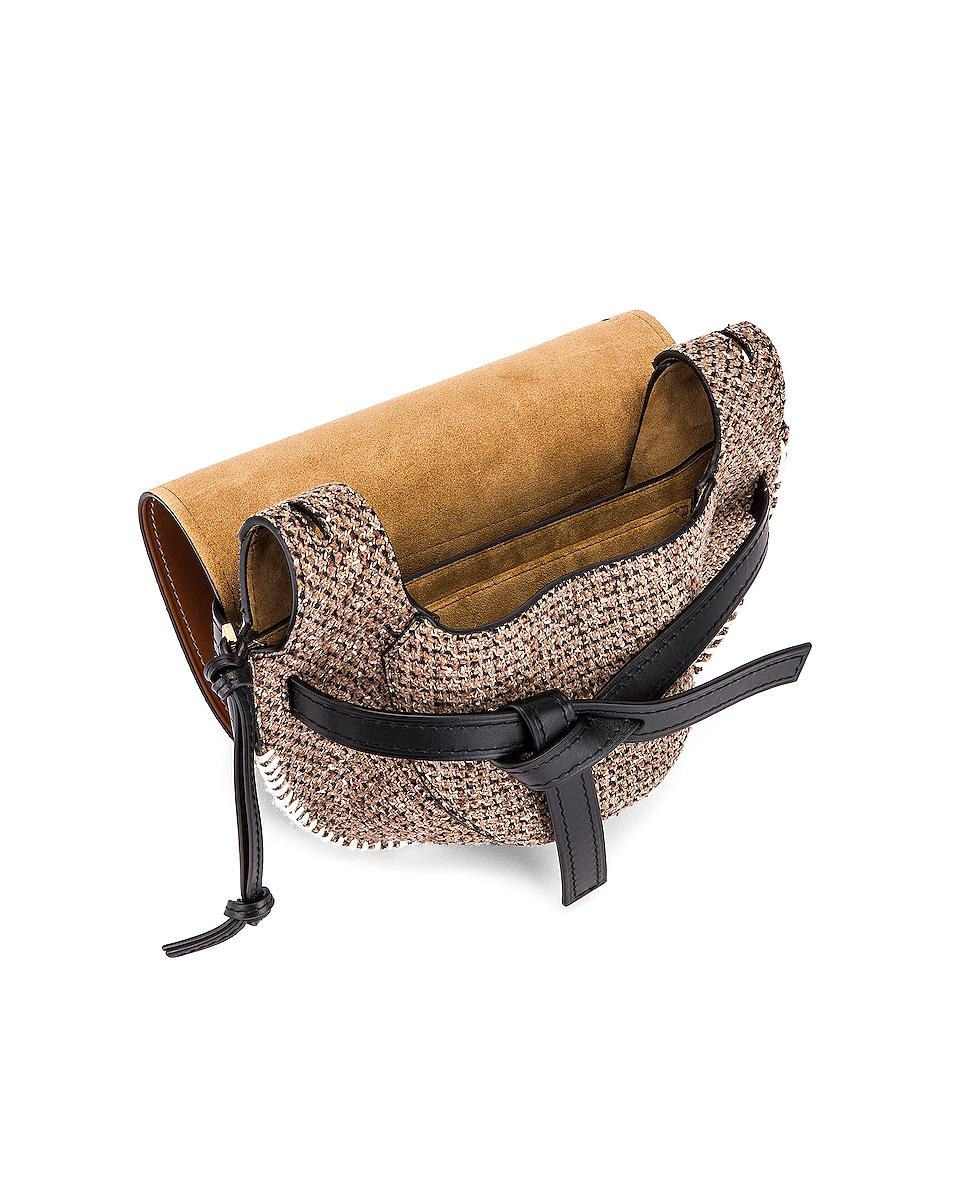 Image 5 of Loewe Gate Tweed Small Bag in Tan